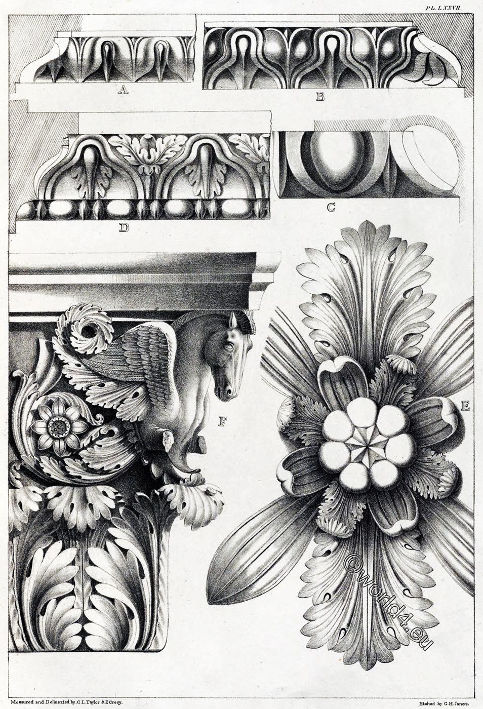 Temple, Mars, Ultor, Rome, Details, Ornament, Decoration, Architecture, antiquities,