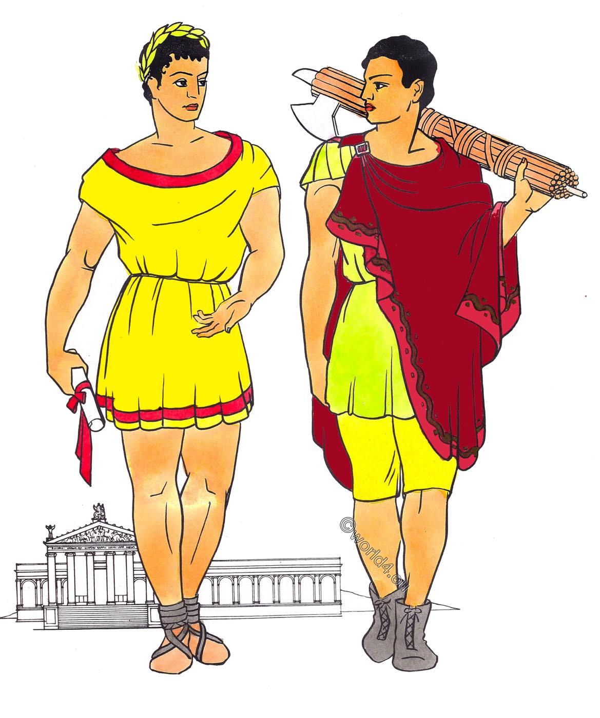 Roman, Republican, Rome, garment, abolla, braccae, tunica, toga