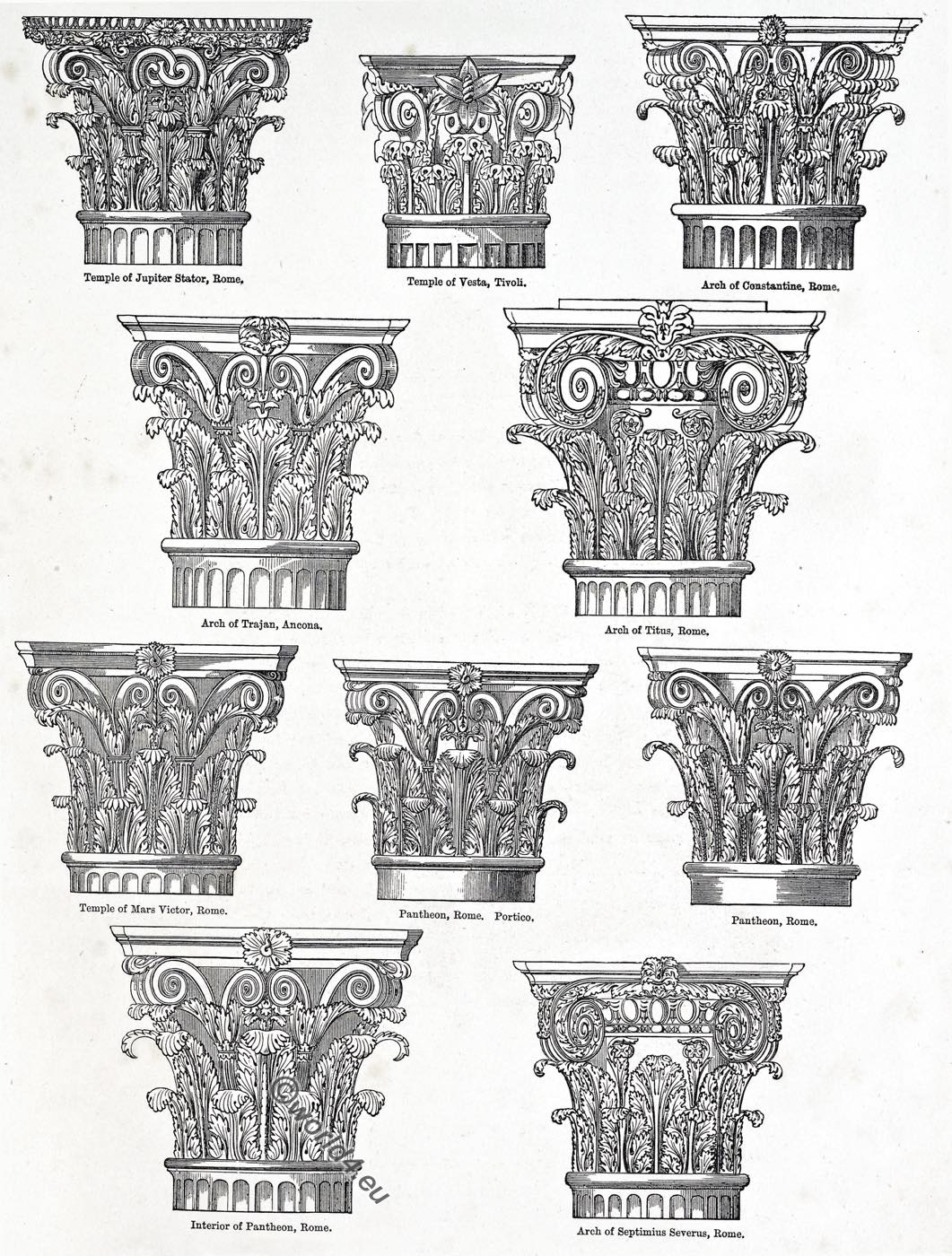 Capital, rome, architecture, Corinthian, Composite, Capitals, Roman, Ornament,