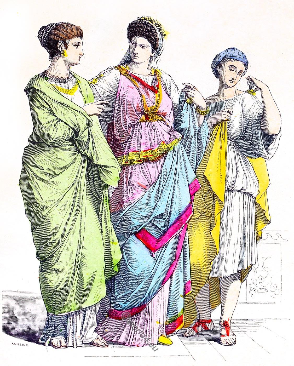 clothing, Noble, Roman, women, Slave,
