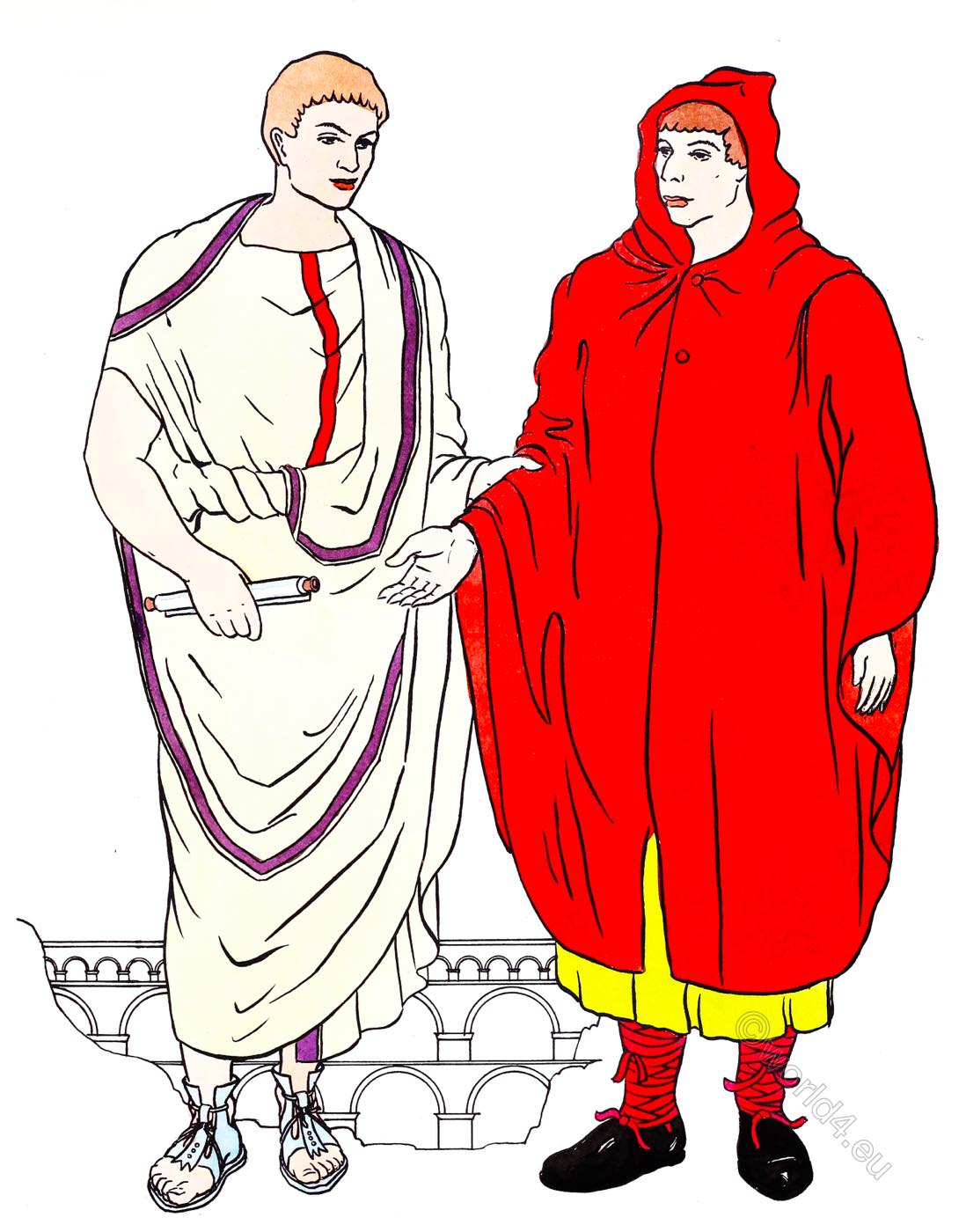 senator, toga, Rome, paenula, clothing,