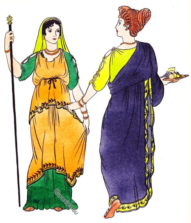 garments, Republican, Roman, women, costume, palla, stola, kolpos,