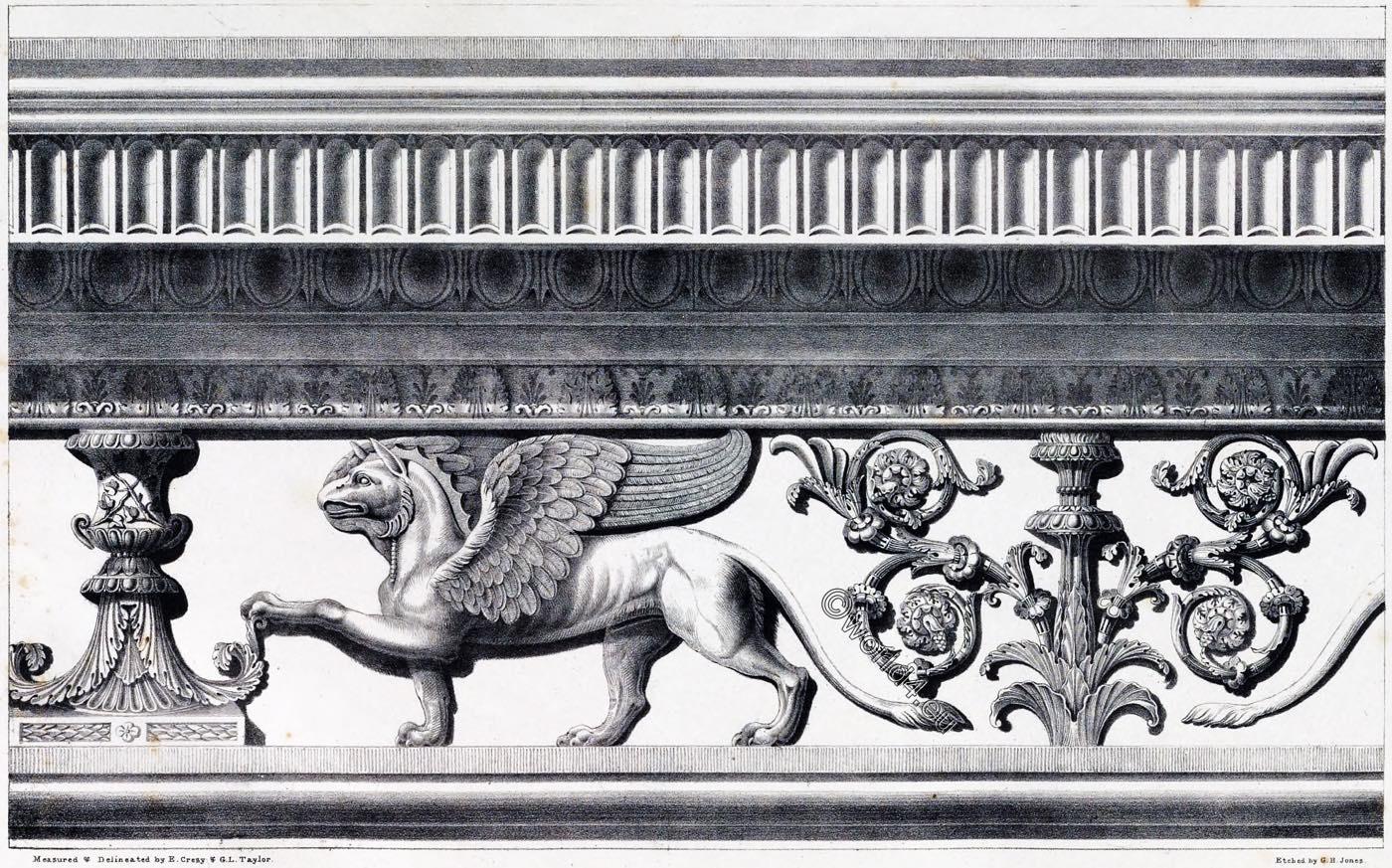 Rome, Temple, Antonius, Faustina, Frieze, Cornice, Ornament, Decoration, Architecture, antiquities,