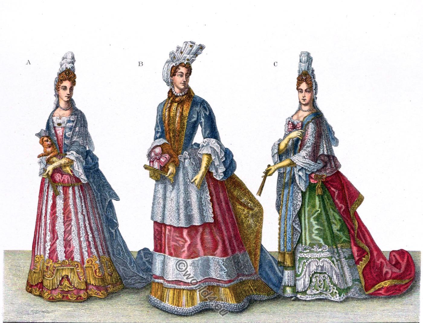 coiffure, Fontanges, Louis XIV, Versailles, court, Baroque, fashion, mode, costumes