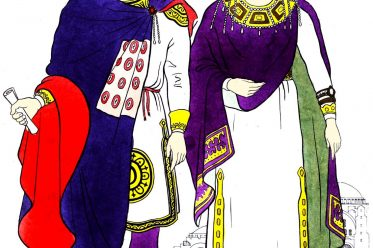 Costumes, Byzantine, King, Queen, Middle Ages,