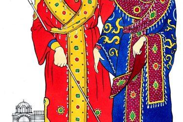 Byzantium, Eastern Roman, emperor, empress, costumes,