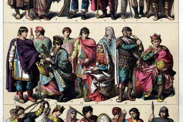 Germans, clothing, Goths, Lombards, Merovingians, Carolingians, Middle Ages