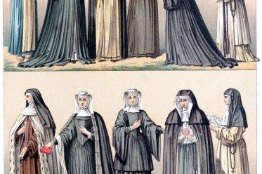 Habit, nuns, Religious Orders, costume, Auguste Racinet