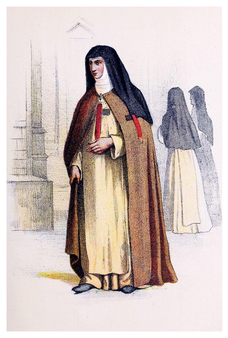 Trinitarian, nun, habit, Trinitarians, Religious, orders,