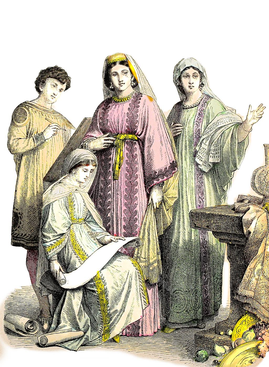 Christians, Clothing, Middle East, dress, 4th, 6th, century