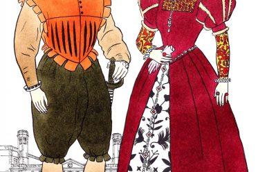 Elizabethan, costumes, upper classes, fashion, clothing, Tudor, Explorer,