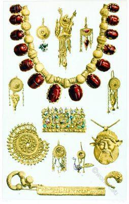Etruscan, jewelry, Bijoux, Étrusques,