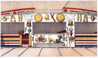 Interior, Etruscan, tomb, Cerveteri, Italy