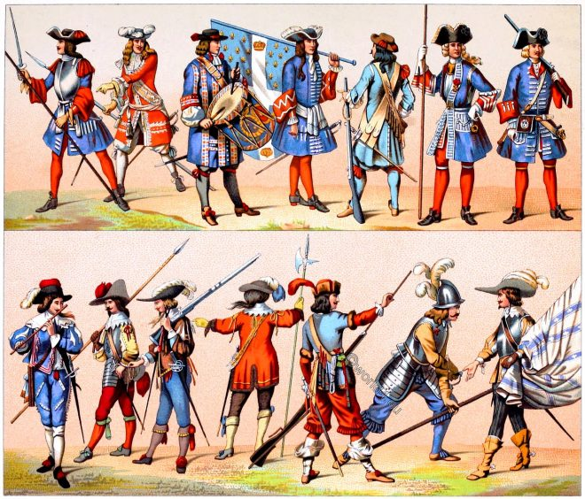 Musketeer, costumes, French, guards, Soldiers, uniforms,