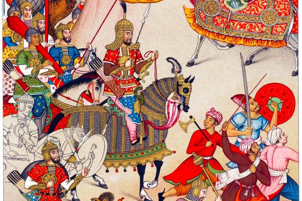 India, Grand Mogul, Babur, campaign, War, costumes
