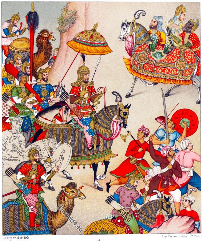 India, Grand Mogul, Babur, campaign, War, costumes