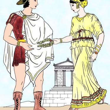 Greek, Ionic, dress, ancient, Greece, clothing