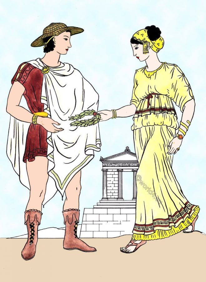 Greek, Ionic, dress, ancient, Greece, clothing