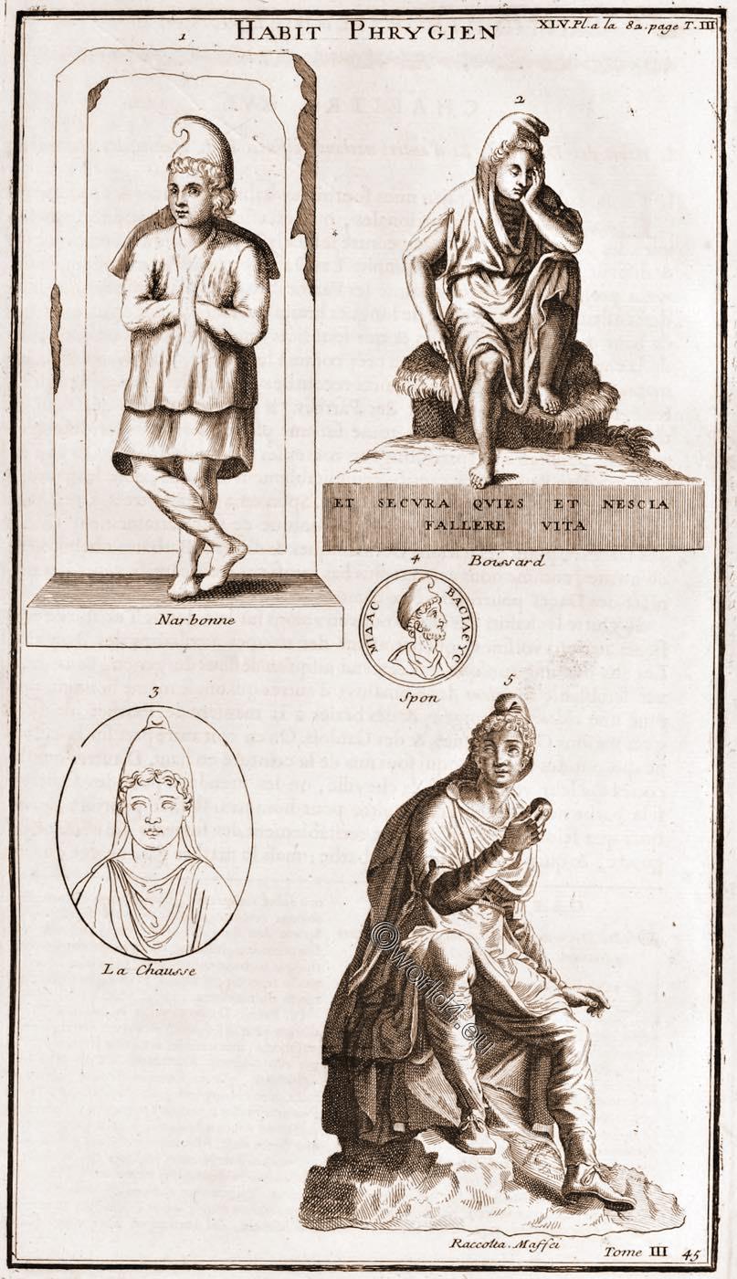 Ancient, Phrygian, dress, Habit, Phrygien,