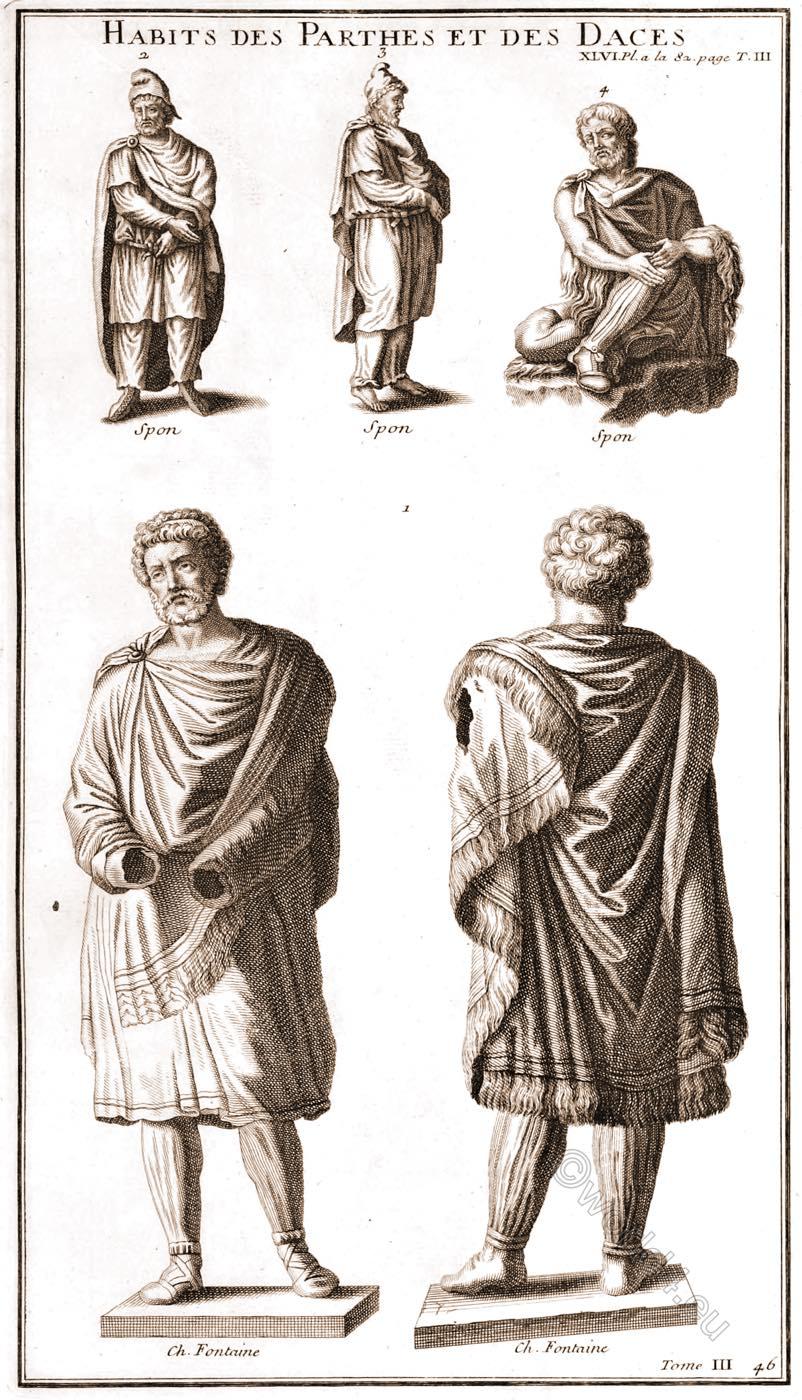 Habits, Parthians, Dacians, Habits, Parthes, Daces, Montfaucon