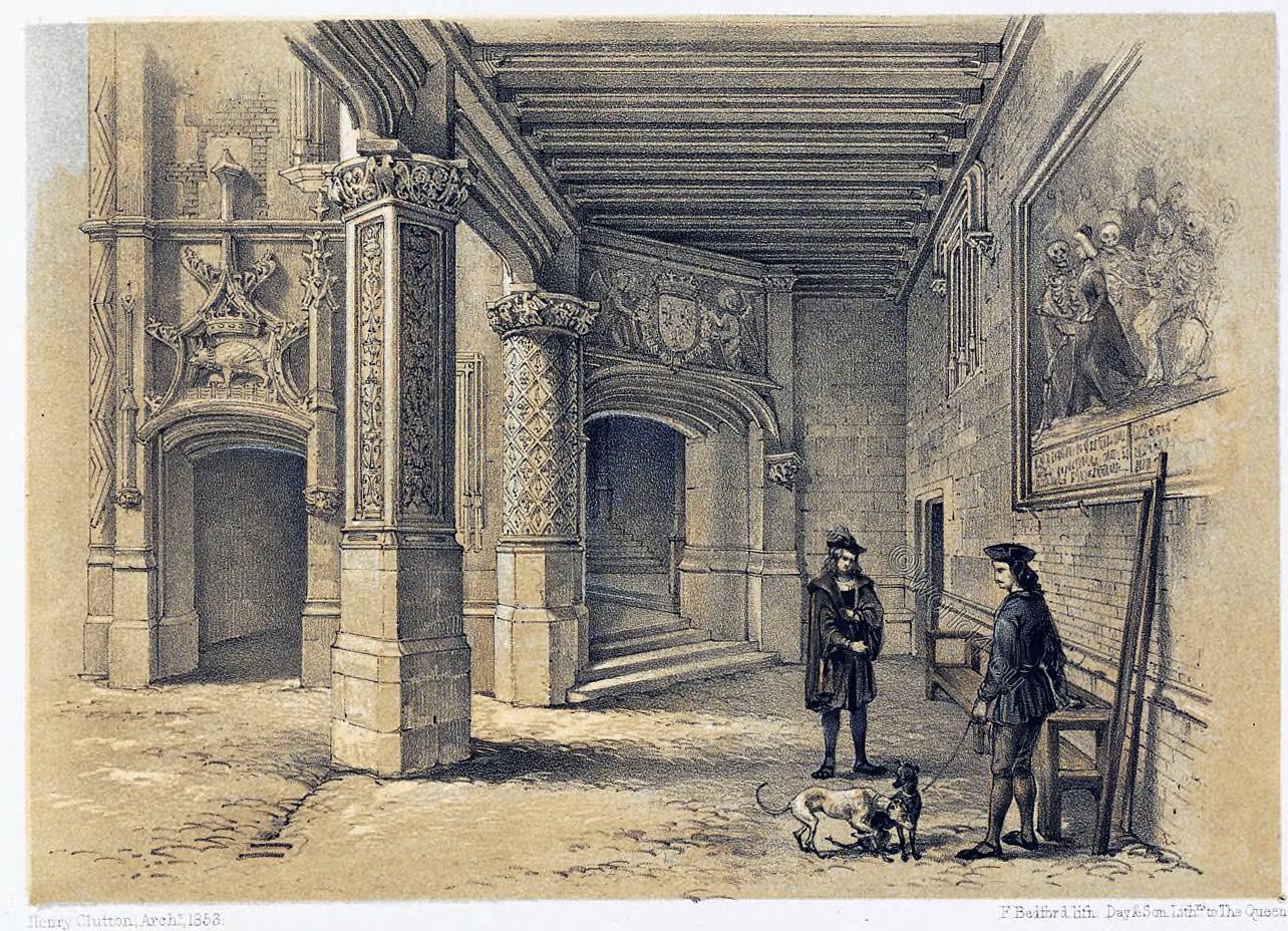 Interior, Palace, Blois, Entrance,  France, Architecture, Middle ages, Royal, Château,