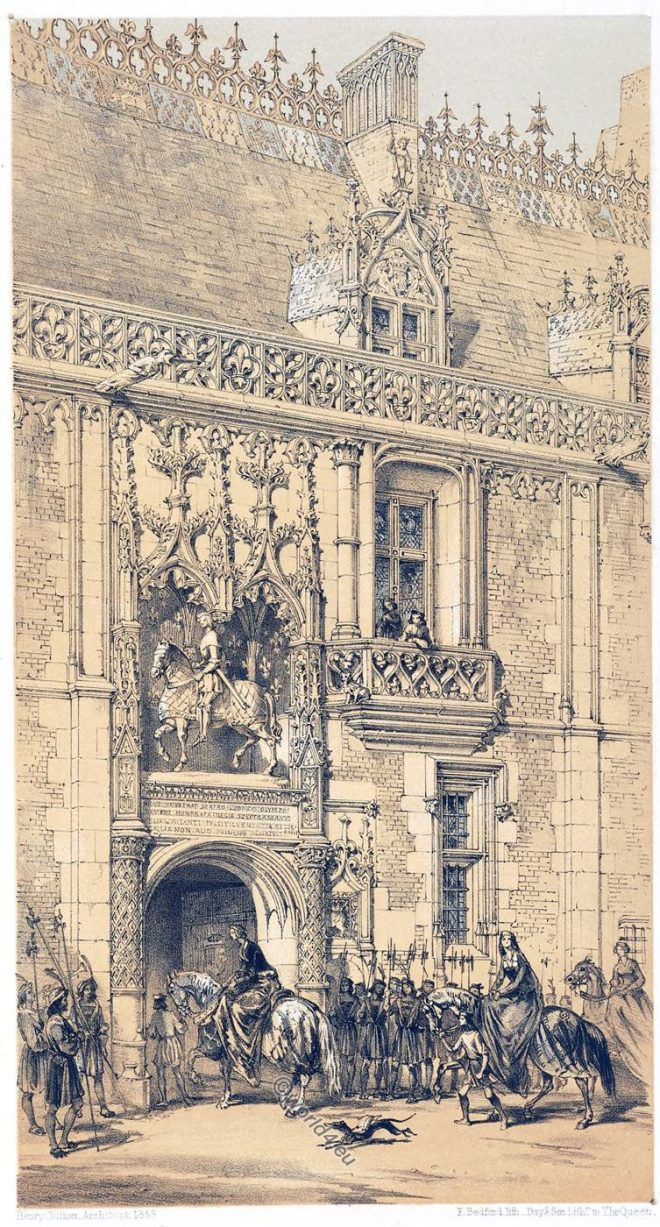 France, Architecture, Middle ages, Palace, Royal, Château, Blois, Gateway ,