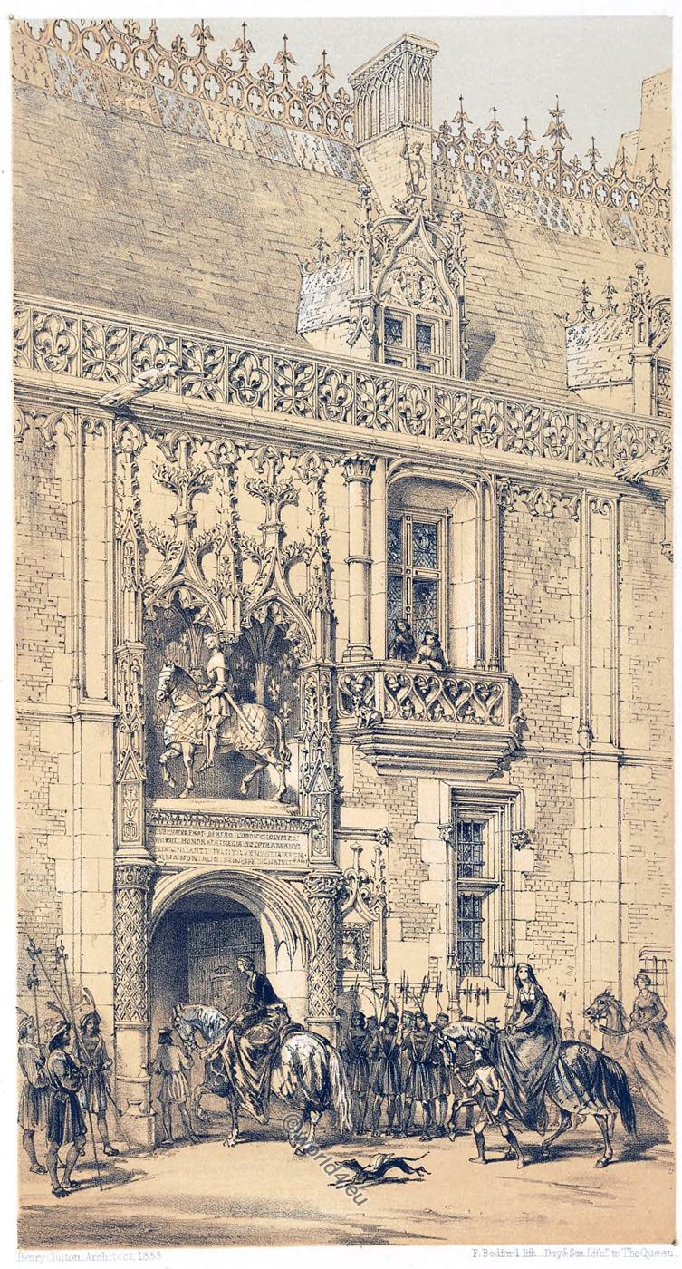 France, Architecture, Middle ages, Palace, Royal, Château, Blois, Gateway ,