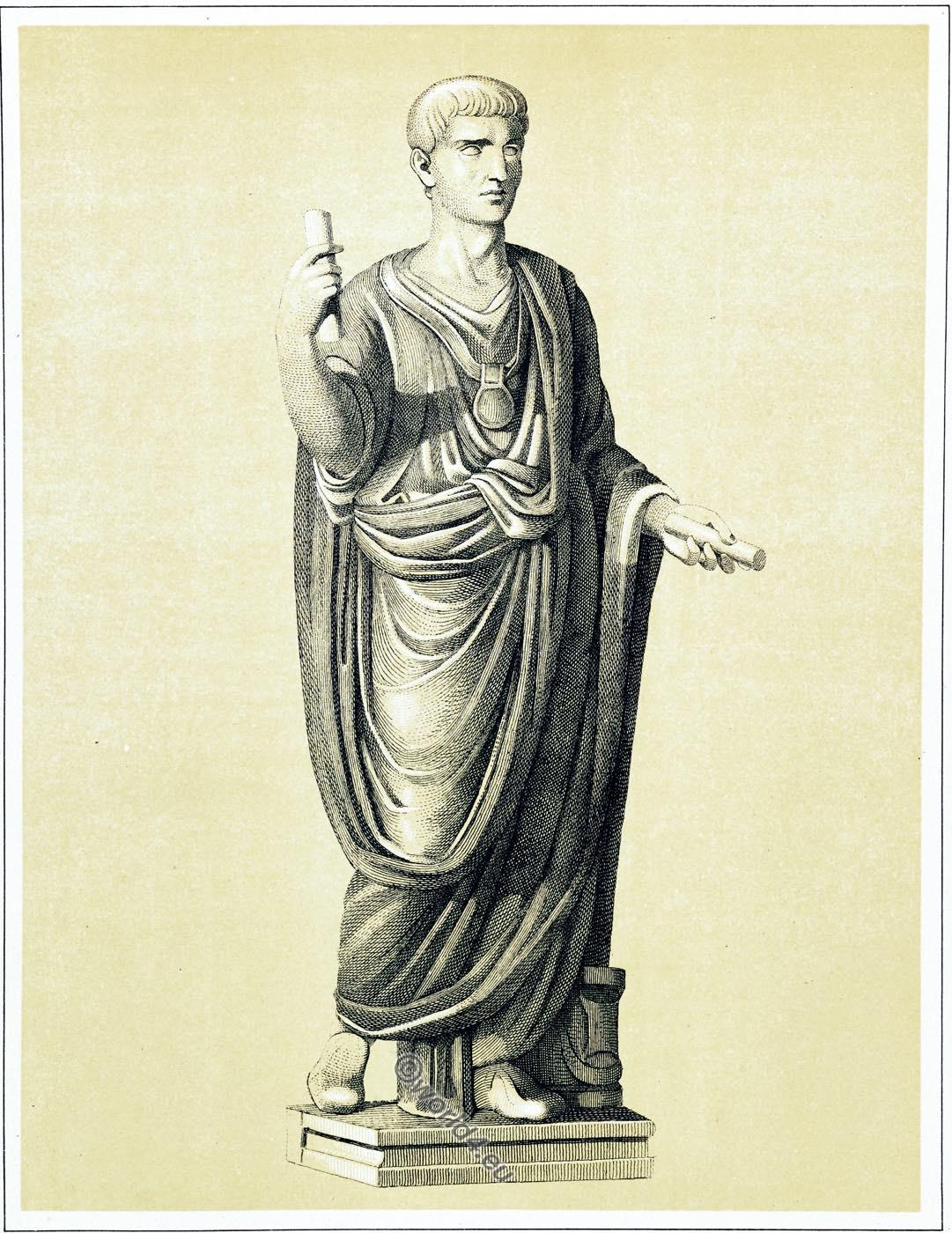 Roman, toga praetexta, costume, clothing,
