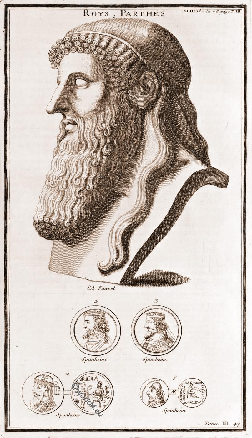 ancient, Parthian, Kings, Roys, Parthes,