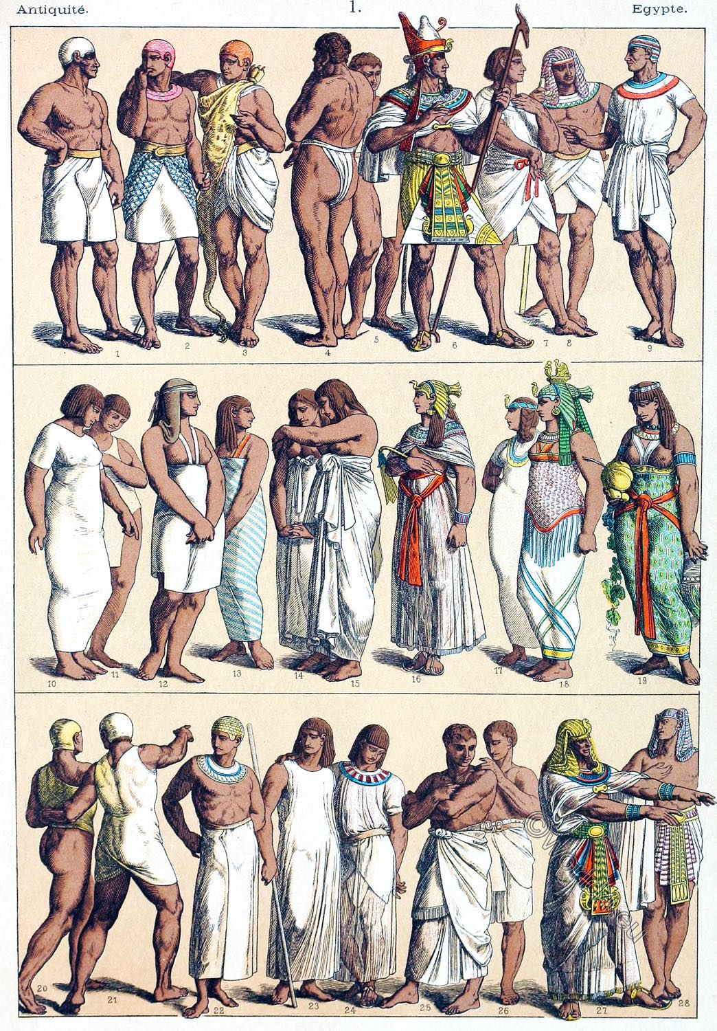 Friedrich Hottenroth, Egyptians. Egypt, Costume, history. ancient