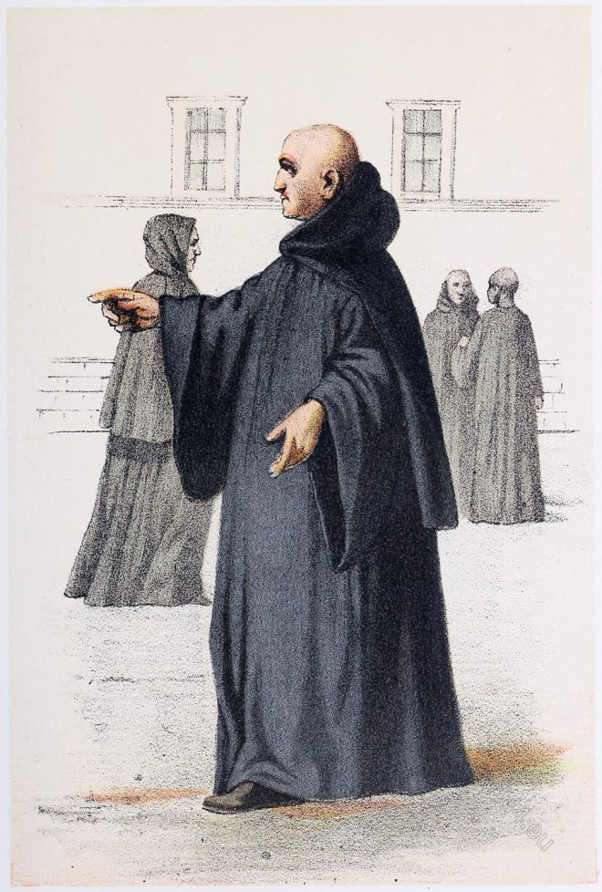 Benedictine, monks, Benedictines, habit,