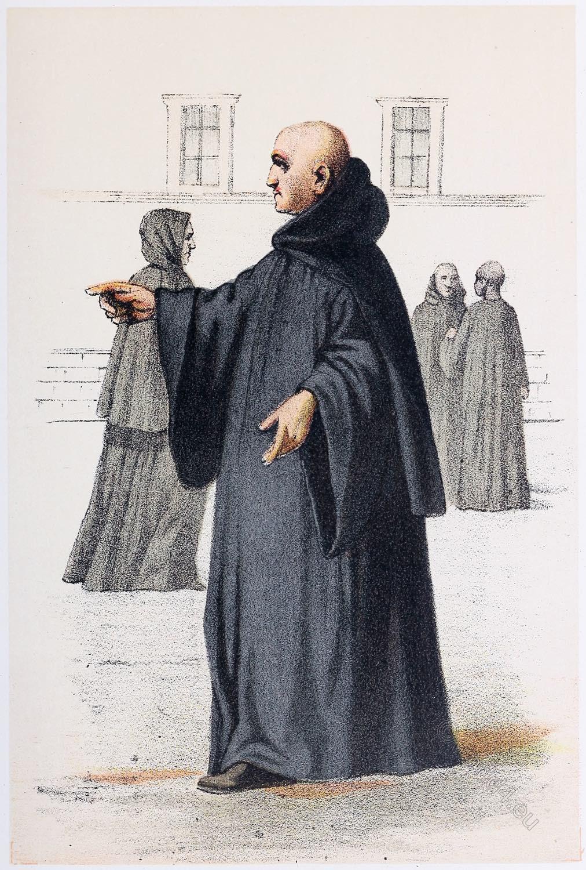 Benedictine, monks, Benedictines, habit,