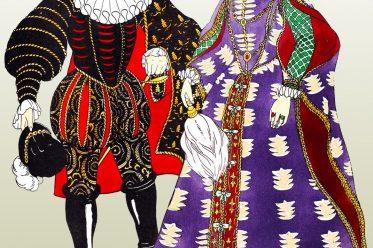 Elizabethan, farthingale, fashion, England, Renaissance, costumes, dress,