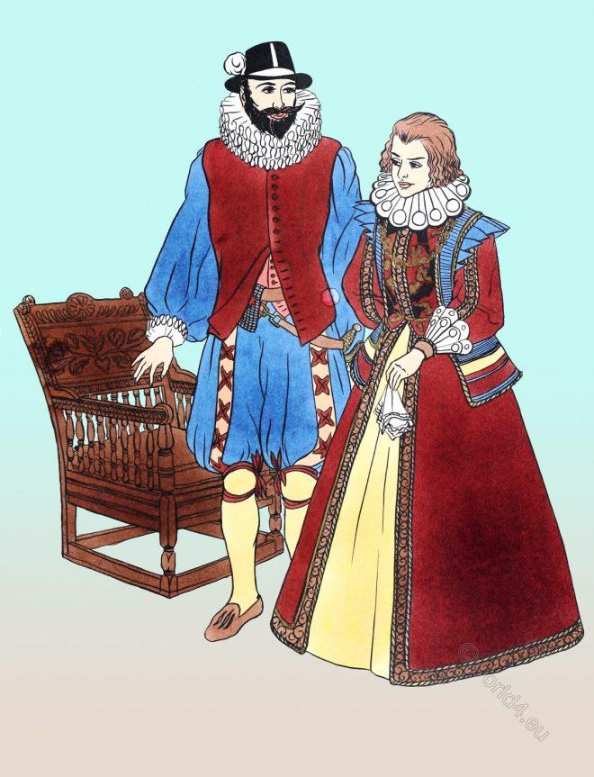 Transitional, Female, costume, England, Tudor, Elizabethan, fashion, dress
