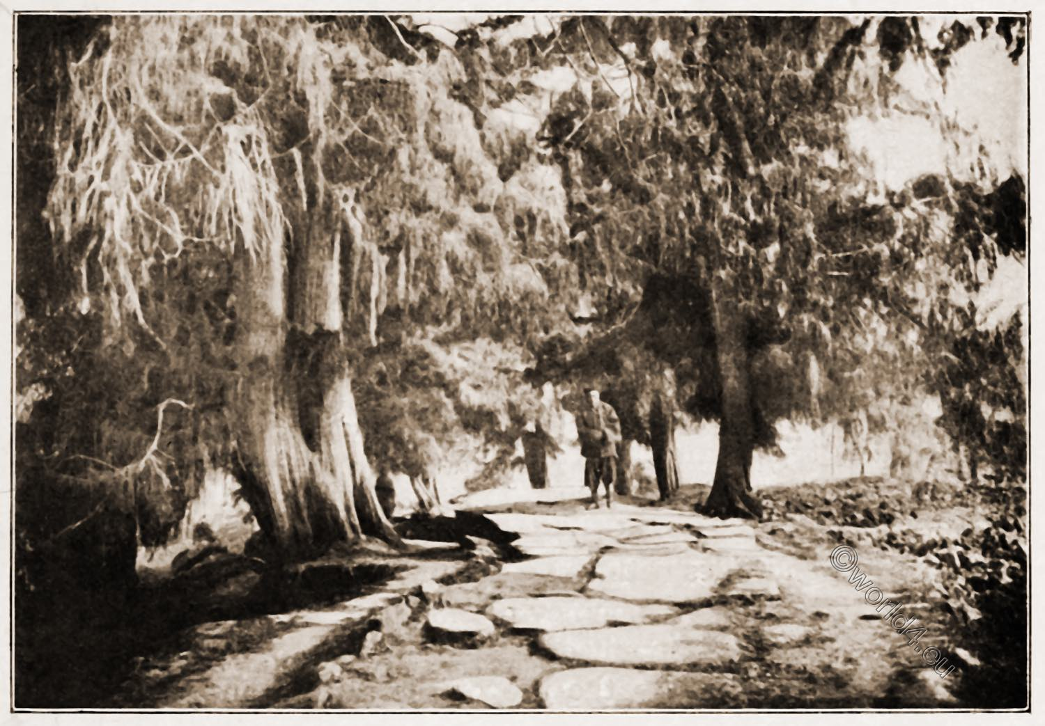 Antique, old, Chinese, pictures, imperial, stone, road, Isabella Lucy Bird