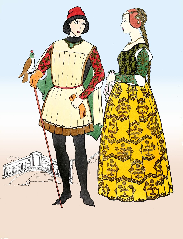 Italian, Fashion, Renaissance, Typical, Italy, 15th, century