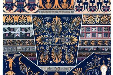Greek, Art, Meanders, Ancient, Polychromatic ornament, Auguste Racinet