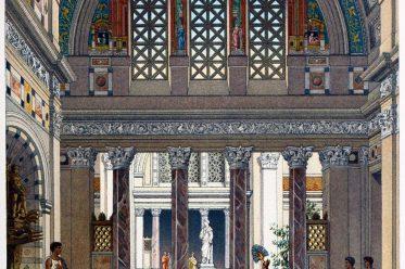ancient, Rome, Roman, palace, Interior, atrium,