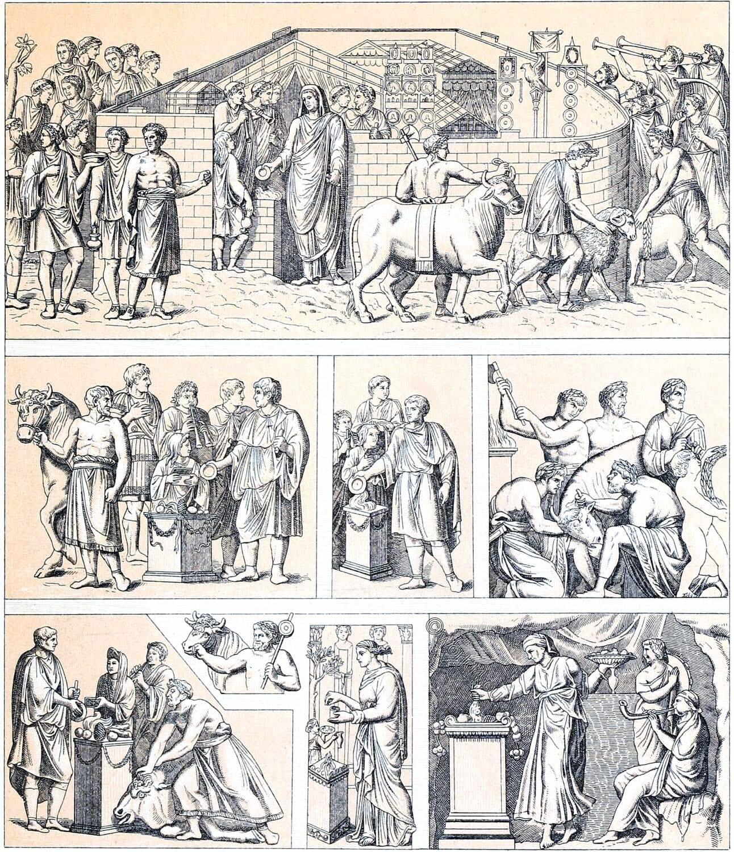 Roman, religious, sacrificial, ceremonies, ancient, antiquity, rome, costumes,