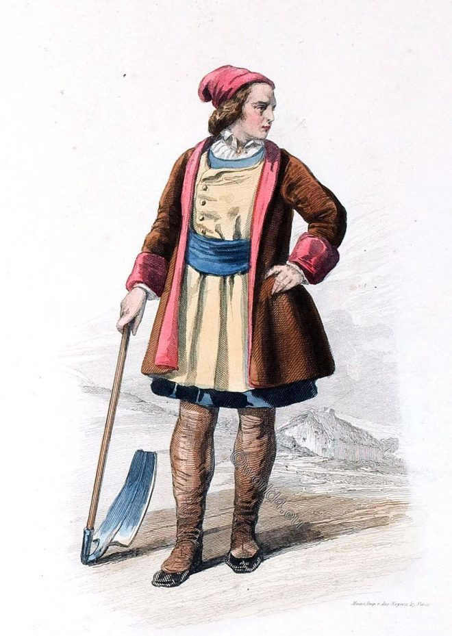 Zappatore, Sassarese, Sardaigne, Italian, folk, costume