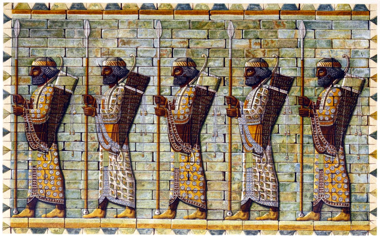 Lancers, archers, Persia, Darius, guard, Palace