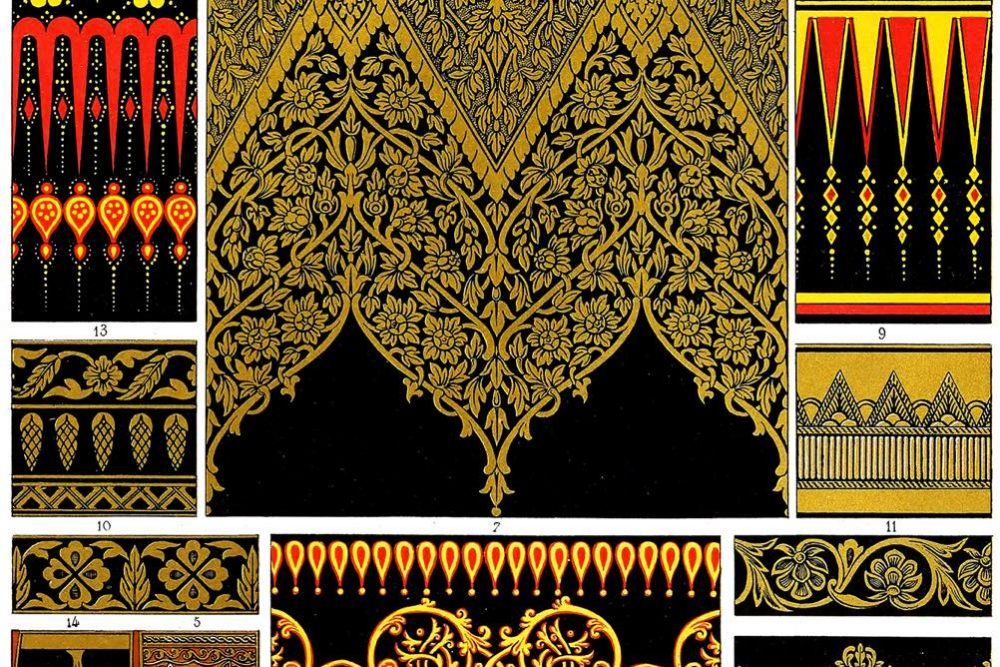 Niellos, Paintings, Indian, Art, India, craft, ornament, Auguste Racinet