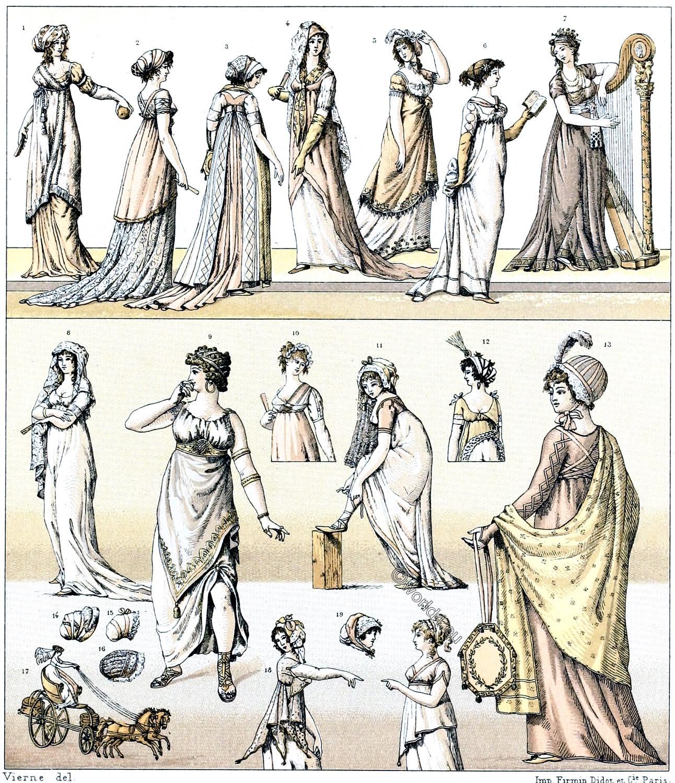 Graecomania, fashion, modes, Directoire, Directorate, Consulate, classicism, France