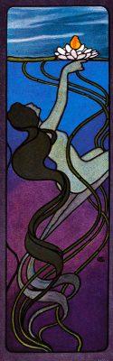 Hans Christiansen, Art nouveau, Odine, Nixe, Illustration,
