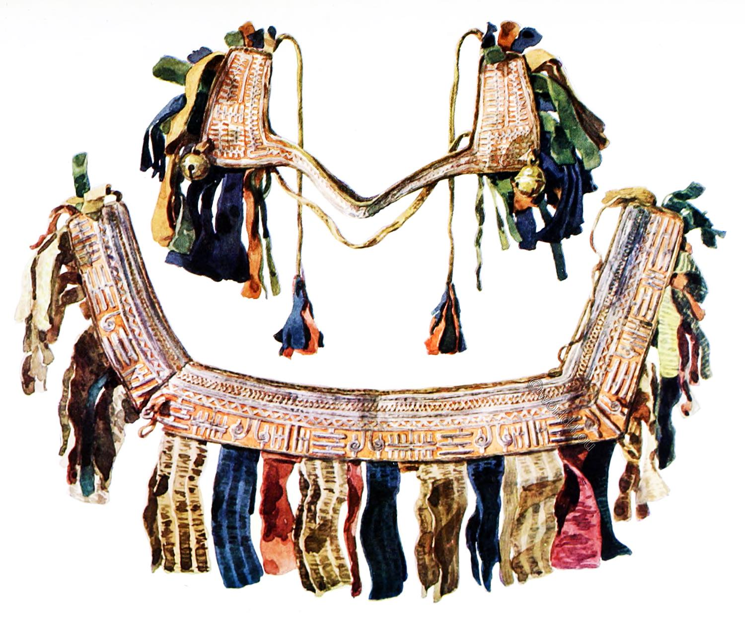 Lapland, Embroidered, reindeer, harness, sami, lapps, crafts, antiquity.