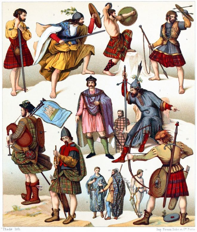 Scotland, Scottish, National, costumes, clans, tartan, plaid, bards,