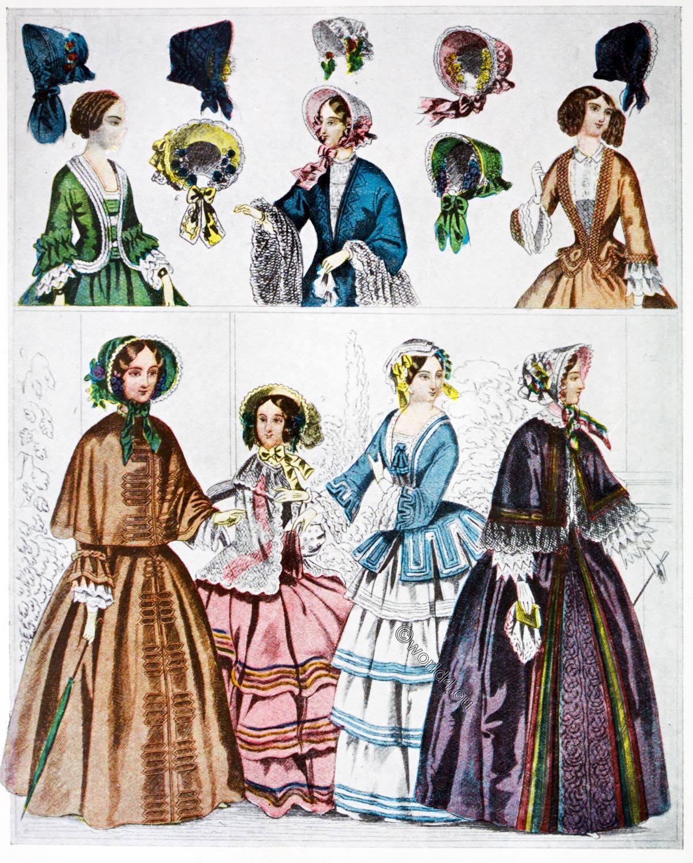 1852, Crinoline, France, Costume, Second Empire, Napoleon III,