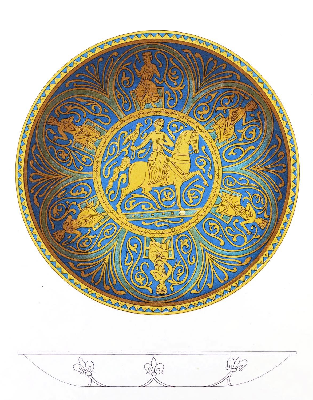 alms bowl, dish, fleurs-de-lys, Arts, Crafts, Middle Ages