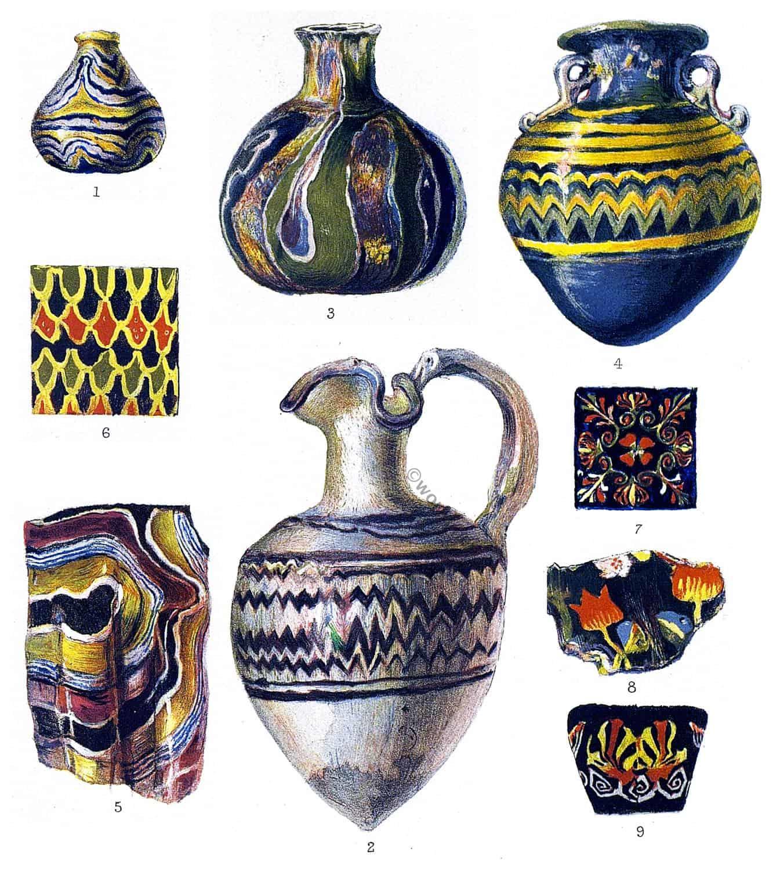 Ancient, specimens, Glass, Roman, Greek,