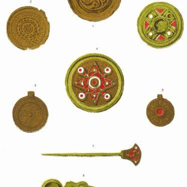 Anglo Saxon, Fibula, Buckle, Pin, ornaments